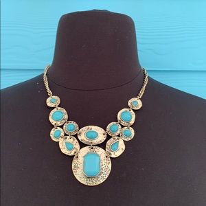 Necklace J87 Ruby Rd Faux Turquoise Silver